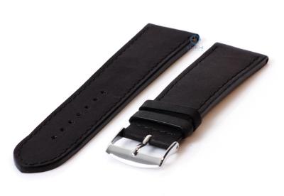 Uhrenarmband 24mm schwarz Leder