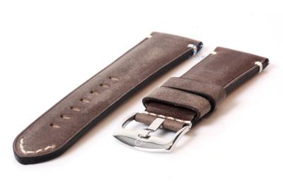 Vintage Uhrenarmband 24mm grau
