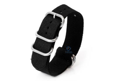 Uhrenarmband nylon 22mm schwarz