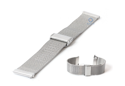 Uhrenarmband 22mm Mailänder silber