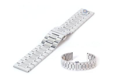 Uhrenarmband 20mm silber Stahl