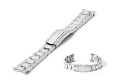 Rolex Stil Uhrenarmband 20mm silber Stahl