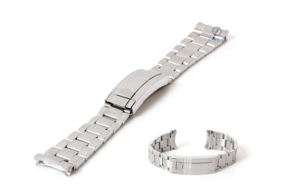 Rolex Stil Uhrenarmband 21mm Silber Stahl