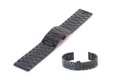 Uhrenarmband 20mm Stahl schwarz