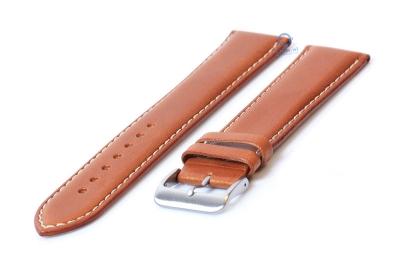 Extra lange Uhrenarmband 24mm hellbraun Leder - XXL
