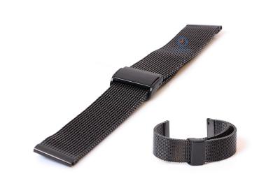 Uhrenarmband 22mm Milanaise schwarz