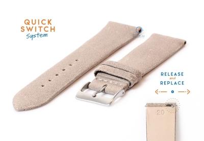 Uhrenarmband 20mm vintage beige Leder