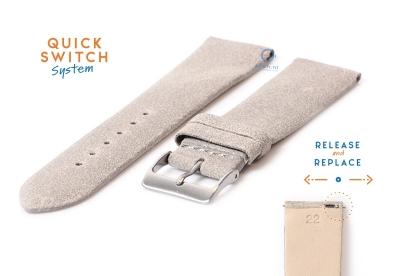 Uhrenarmband 22mm vintage grau Leder