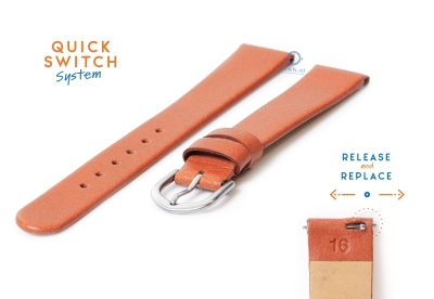 Uhrenarmband 16mm braun Leder ohne Naht