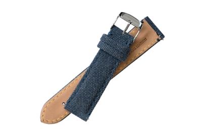 Fromanteel Ersatzarmband dunkelblau Leder mit Canvas