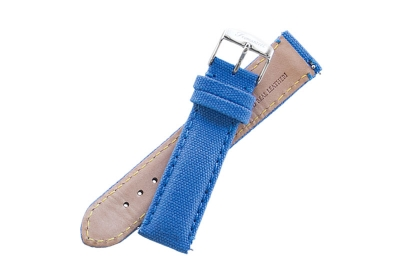 Fromanteel Ersatzarmband hellblau Leder mit Canvas