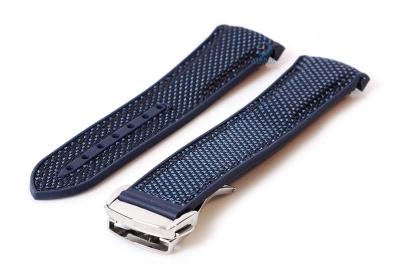 Omega Seamaster Uhrenarmband 22mm blau Silikon
