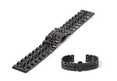 Uhrenarmband 20mm stahl schwarz polished/matt