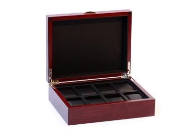 Holz-Uhrenbox für 8 Uhren-Cherry