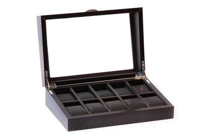 Holz Armbanduhrenbox für 10 Uhren-Eiche Matt