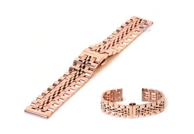 Metalarmband 20mm Rosegold Teilpoliert