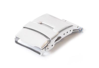 Edelstahl Faltschließe mit Drückern 20mm Silber mattiert