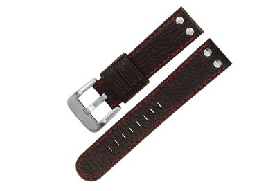 TW STEEL Uhrarmband 22mm - Schwarz - Rot