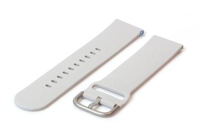 Uhrenarmband 20mm hellgrau Silikon