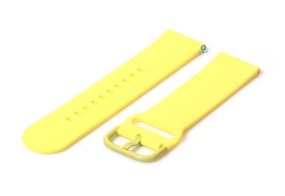 Uhrenarmband 20mm gelb Silikon