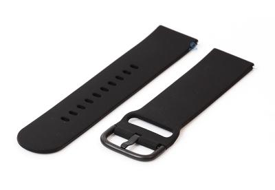 Uhrenarmband 22mm schwarz Silikon