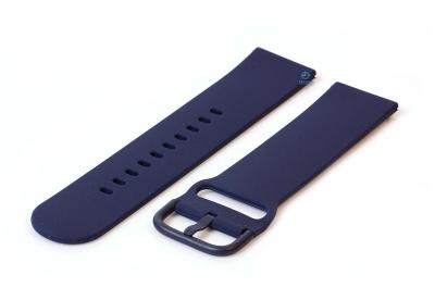 Uhrenarmband 22mm dunkelblau Silikon