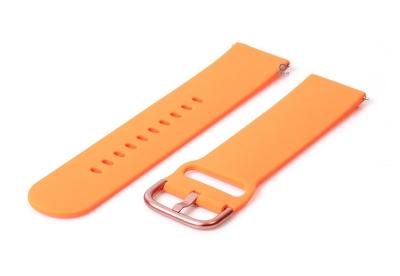 Uhrenarmband 22mm orange Silikon