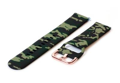 Uhrenarmband 20mm silikon - grün Tarnung