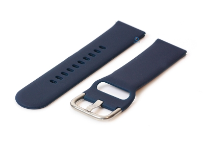 Uhrenarmband 20mm Silikon dunkelblau