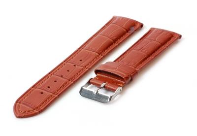 Uhrenarmband 22mm Lederarmband mit Krokoprägung - hellbraun