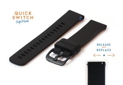 Uhrenarmband 18mm silikon - schwarz