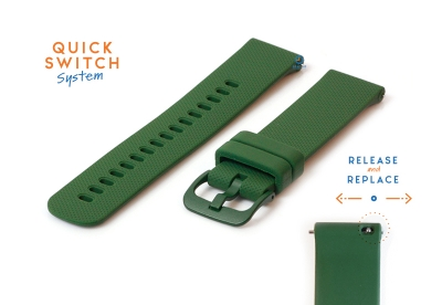 Uhrenarmband 18mm silikon - dunkles grün