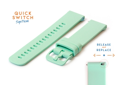 Uhrenarmband 18mm silikon - mintgrün