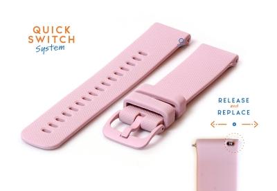 Uhrenarmband 18mm silikon - pink