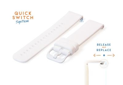 Uhrenarmband 18mm silikon - weiß