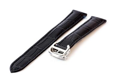 Uhrenarmband für Cartier - 18/16mm schwarz
