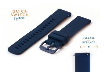 Uhrenarmband 20mm Silikon blau