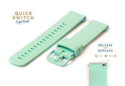 Uhrenarmband 20mm silikon - mintgrün
