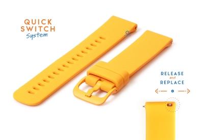 Uhrenarmband 20mm silikon - orange