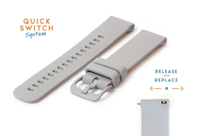 Uhrenarmband 20mm Silikon grau