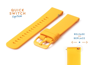 Uhrenarmband 22mm silikon - orange