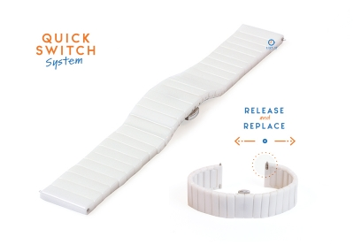 Keramikuhrenarmband -20mm weiß