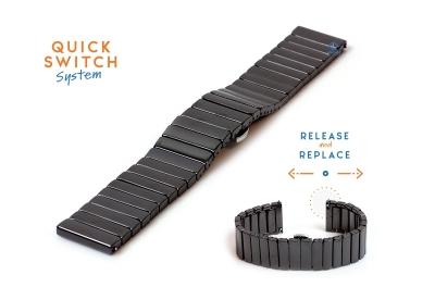 Keramikuhrenarmband -20mm schwarz