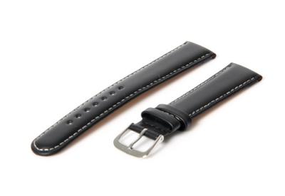 Uhrenarmband 16mm schwarz Leder