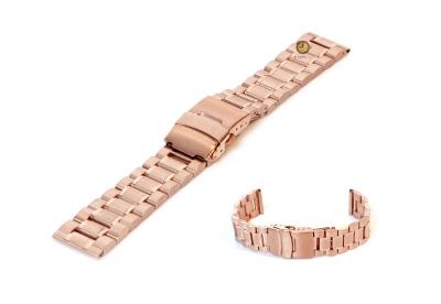 Uhrenarmband 16mm Edelstahl teilpoliert - pink