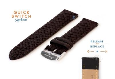 Fromanteel Geflochten Armband - schwarz Leder