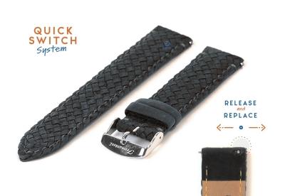 Fromanteel Geflochten Armband - grau Leder
