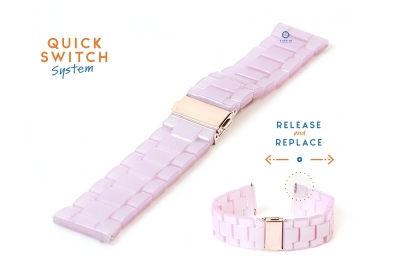 22mm resin Uhrenarmband - pink