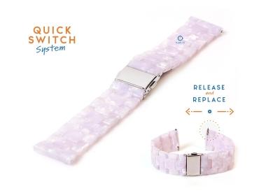 20mm resin Uhrenarmband - Perle pink