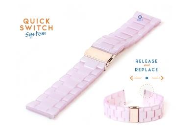 20mm resin Uhrenarmband - pink